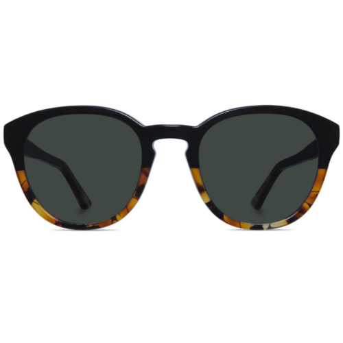 Classic round two-toned sunglasses with G15 lenses