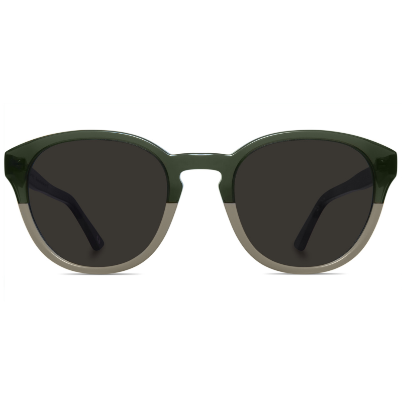 Classic round two-toned sunglasses with brown lenses