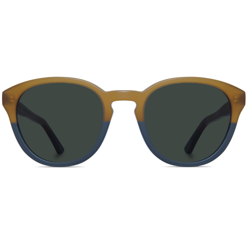 Classic round two-toned sunglasses with G15 lens