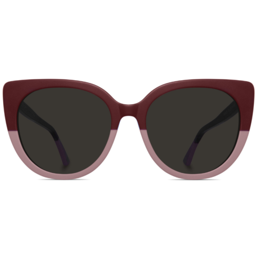 Two toned cat-eyed sunglasses with brown lenses