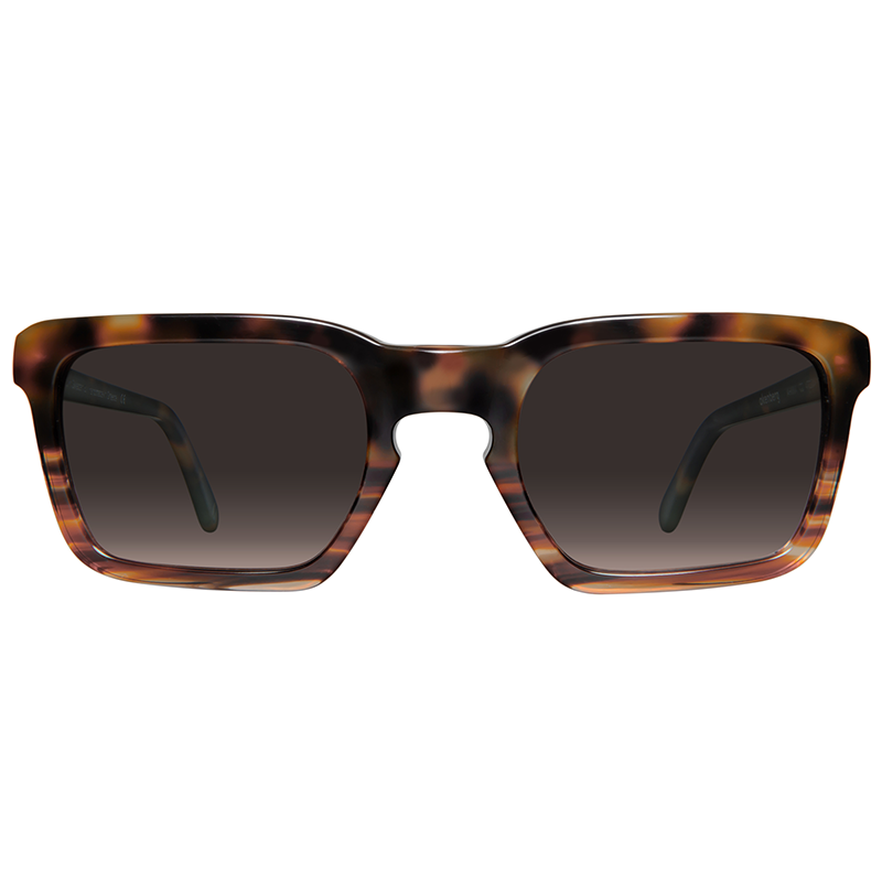 Squared sunglasses with brown gradient lenses
