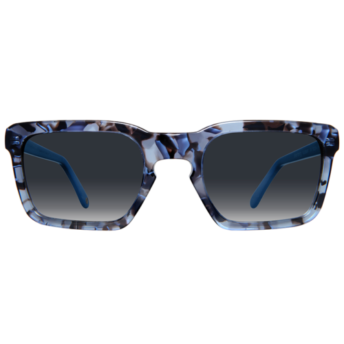 Squared sunglasses with gradient lenses