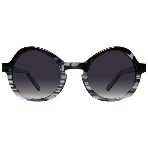 Round sunglasses with grey gradient lenses
