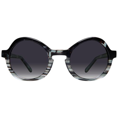 Round sunglasses with grey gradient lenses