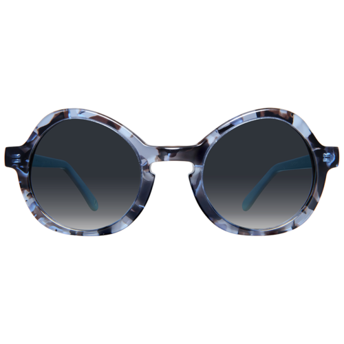 Round sunglasses with gradient lenses