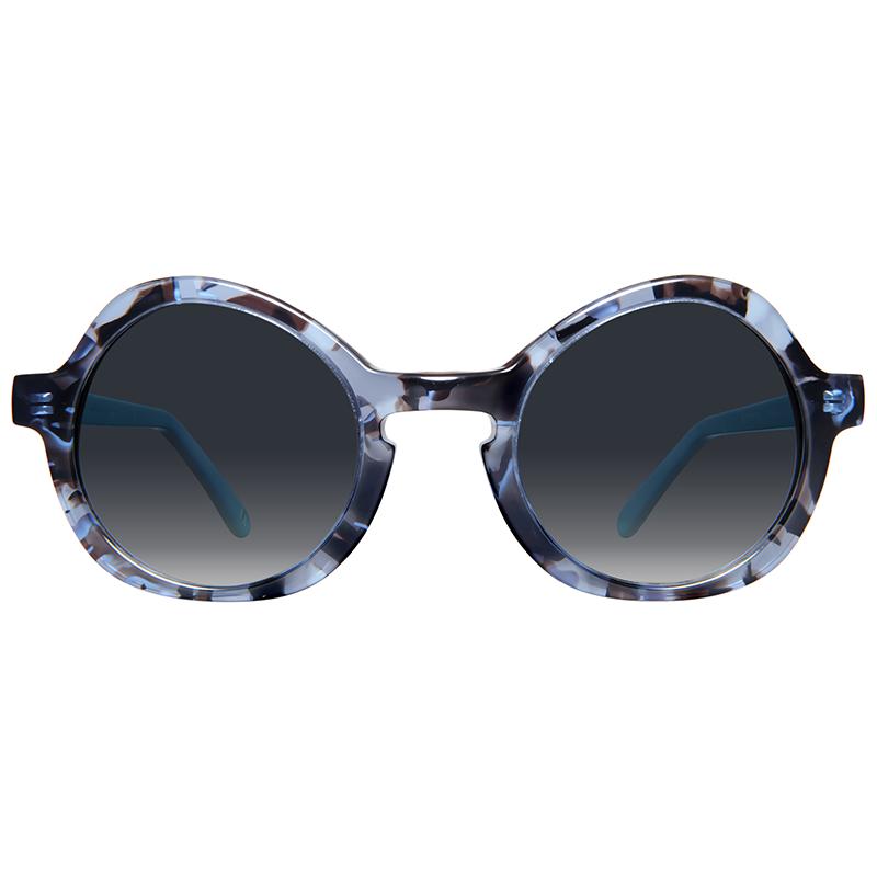Round sunglasses with gradient lenses