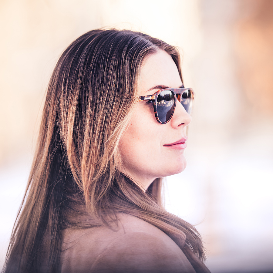 woman wearing Akenberg sunglasses