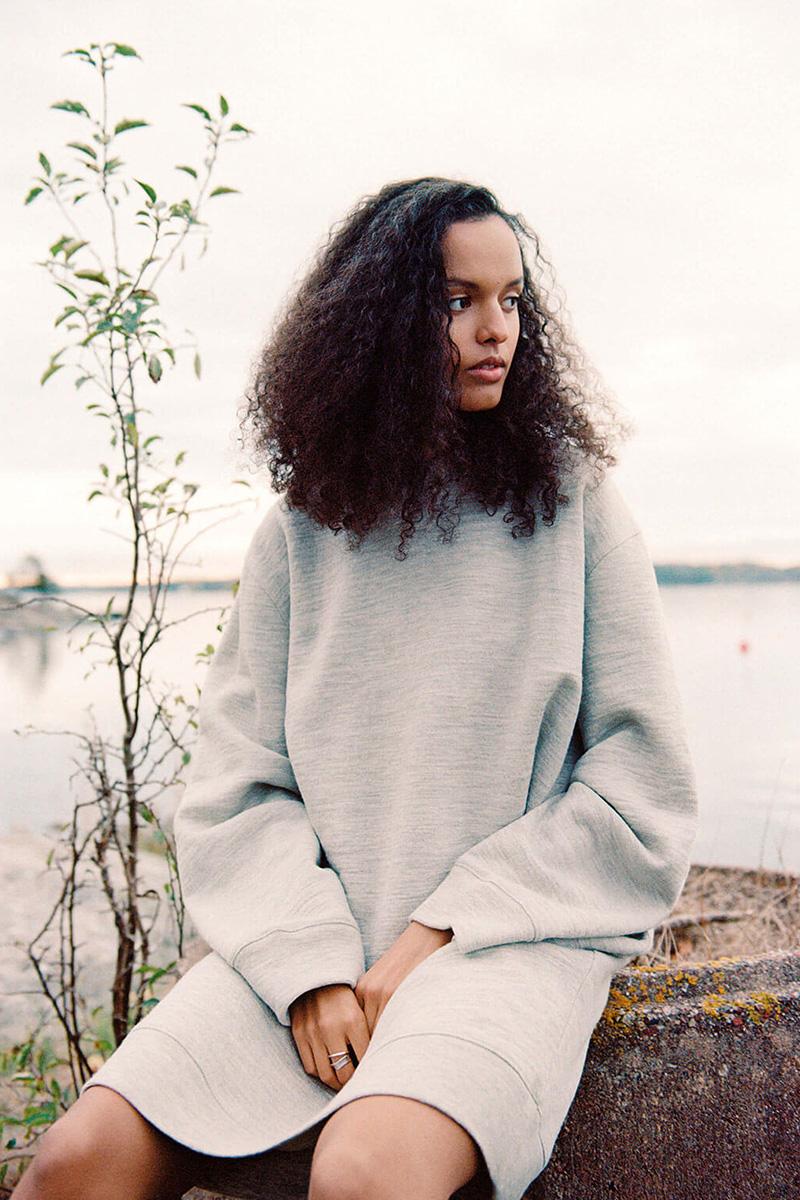 A new Sweden_woman wearing wool dress