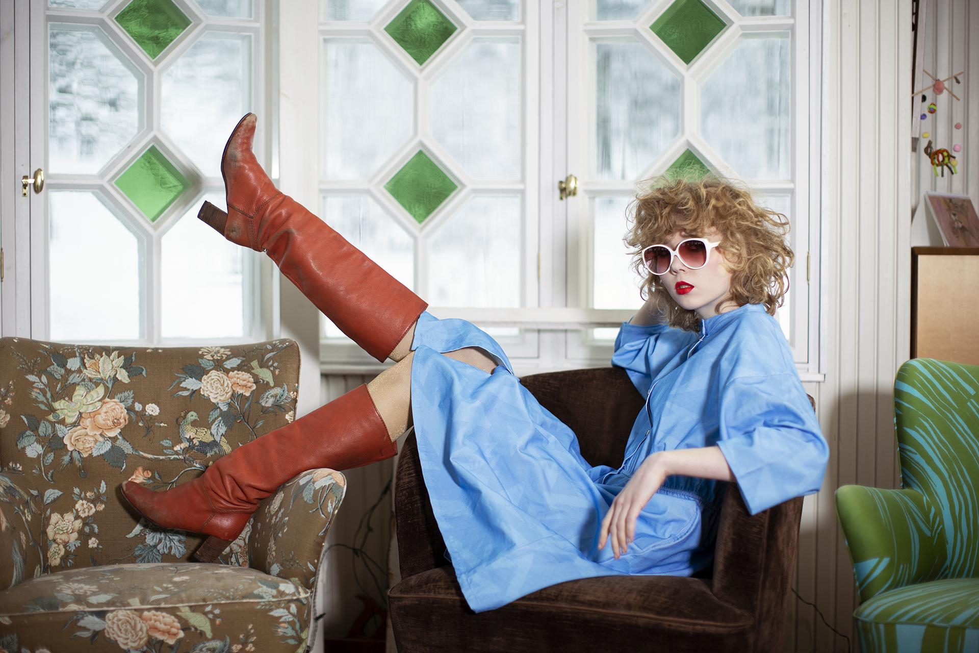 Woman wearing Ivana Helsinki AW21 collection